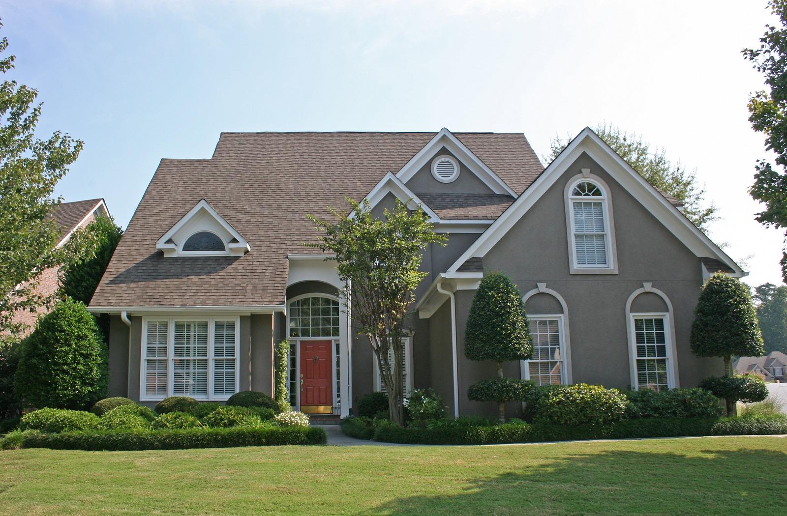 bigstock-Stucco-House-909437